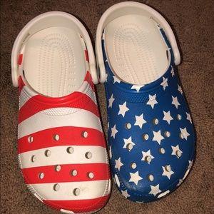 american flag crocs!!!